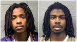 This combination of photos provided by the Cook County Sheriff's Office shows Kenneth Williams, left, and Micheail Ward. On Friday, Aug. 10, 2018, jury selection began in Chicago for the trial of the two men charged in the January 2013 fatal shooting of 15-year-old student Hadiya Pendleton just days after she performed with her high school band at then-President Barack Obama's inaugural festivities. (Cook County Sheriff's Office via AP)