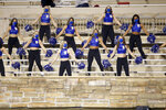 The Tulsa pom squad performs during a NCAA football game in Tulsa. Okla. on Friday, Oct. 30, 2020.(Ian Maule/Tulsa World via AP)