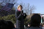 Democratic presidential candidate Sen. Elizabeth Warren, D-Mass., addresses supporters outside the State House after filing to have her name listed on the New Hampshire primary ballot, Wednesday, Nov. 13, 2019, in Concord, N.H. (AP Photo/Charles Krupa)