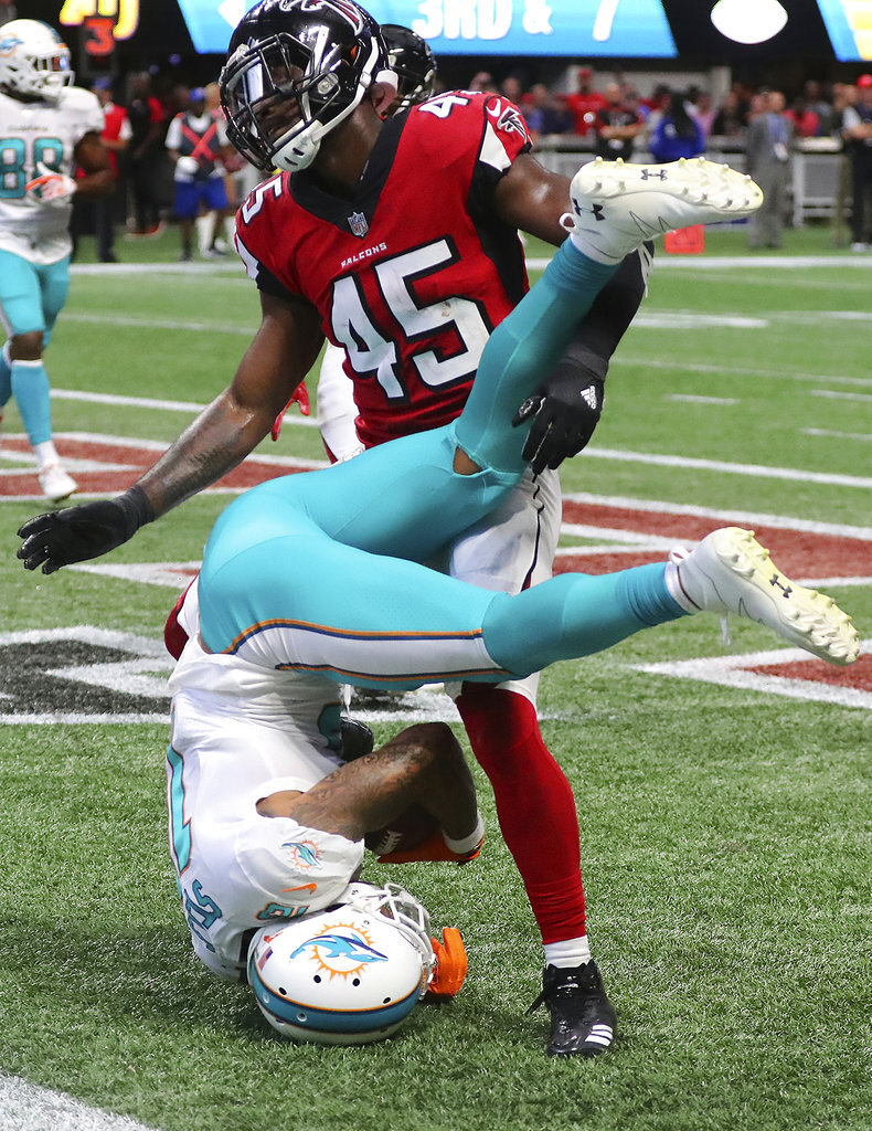 APTOPIX Dolphins Falcons Football