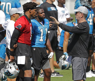 Norv Turner, Cam Newton, Torrey Smith