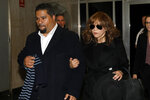 Rosie Perez leaves the Harvey Weinstein rape trial, in New York, Friday, Jan. 24, 2020. (AP Photo/Richard Drew)