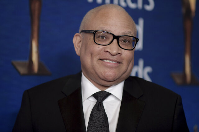 FILE - Larry Wilmore attends the 2019 Writers Guild Awards in Beverly Hills, Calif. on Feb. 17, 2019. Wilmore is back on TV and ready to talk politics on his new Peacock streaming show. (Photo by Richard Shotwell/Invision/AP, File)