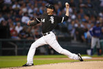 Chicago White Sox starting pitcher Ross Detwiler delivers during the second inning of the team's baseball game against the Texas Rangers on Thursday, Aug. 22, 2019, in Chicago. (AP Photo/Jeff Haynes)
