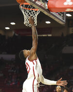 Oklahoma Kristian Doolittle shoots during the second half of the team's NCAA college basketball game against Iowa State in Norman, Okla., Wednesday, Feb. 12, 2020. (AP Photo/Kyle Phillips)