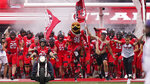 Utah players take the field for an NCAA college football game against Weber State on Thursday, Sept. 2, 2021, in Salt Lake City. (AP Photo/Rick Bowmer)