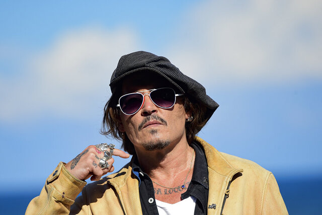 FILE - In this file photo dated Sunday, Sept. 20, 2020, US actor and film producer Johnny Deep during the photocall for his film
