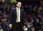 Vanderbilt head coach Bryce Drew reacts to a call in the first half of an NCAA college basketball game against Mississippi State, Saturday, Jan. 19, 2019, in Nashville, Tenn. (AP Photo/Mark Humphrey)