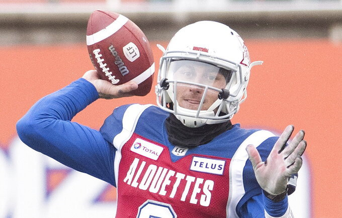 Manziel gets first CFL win in Alouettes' victory over Argos