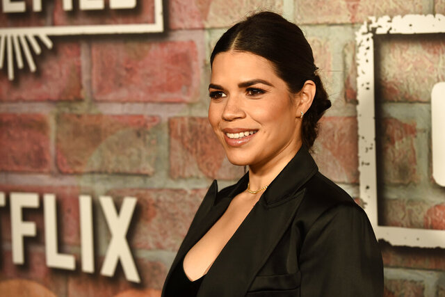 FILE - This Feb. 20, 2020 file photo shows America Ferrera, producer of the Netflix series