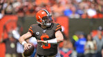 Cleveland Browns quarterback Baker Mayfield looks to throw during the first half in an NFL football game against the Tennessee Titans, Sunday, Sept. 8, 2019, in Cleveland. (AP Photo/David Richard)