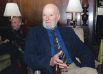 FILE - Author Lawrence Ferlinghetti appears in Oct. 8, 1988. Ferlinghetti, a poet, publisher and bookseller has died in San Francisco at age 101. His son says Ferlinghetti died at home on Monday, Feb. 22, 2021. Ferlinghetti helped launch and perpetuate the Beat movement. He was known for his City Lights bookstore in San Francisco, an essential meeting place for the Beats and other bohemians in the 1950s and beyond. (AP Photo/Frankie Ziths, File)