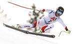 Switzerland's Lara Gut speeds down the course during an alpine ski, women's World Cup super-G, in Bad Kleinkirchheim, Austria, Saturday, Jan. 13, 2018. (AP Photo/Marco Trovati)