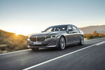 This photo provided by BMW shows the BMW 7 Series, a large luxury sedan that has received notable updates for 2020, including a distinct grille and other exterior styling changes. (Daniel Kraus /Courtesy of BMW of North America via AP)