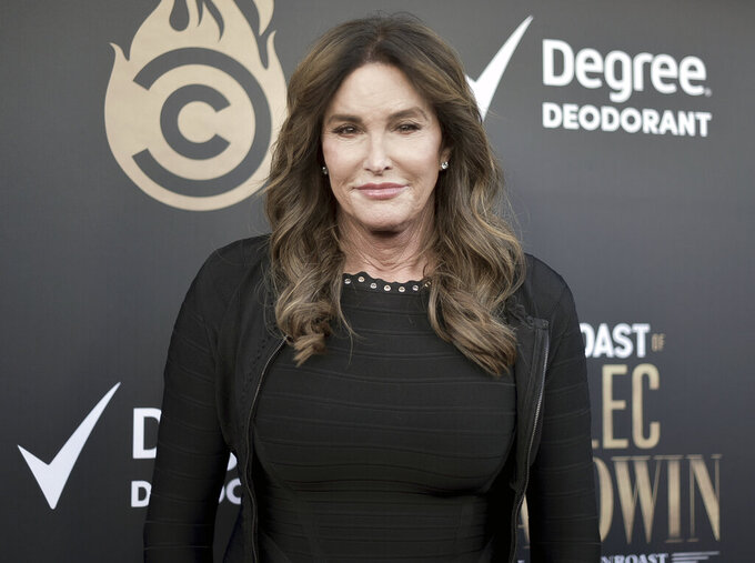 FILE - Caitlyn Jenner attends the Comedy Central Roast of Alec Baldwin in Beverly Hills, Calif. on Sept. 7, 2019.  Jenner says she will run for governor of California. Jenner says in statement posted Friday, April 23, on Twitter that she has filed initial paperwork to run. Democratic Gov. Gavin Newsom is facing a likely recall election this year.  (Photo by Richard Shotwell/Invision/AP, File)