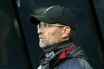 Liverpool manager Jurgen Klopp before the English Premier League soccer match against Newcastle United at St James' Park, Newcastle, England, Saturday May 4, 2019. (Owen Humphreys/PA via AP)