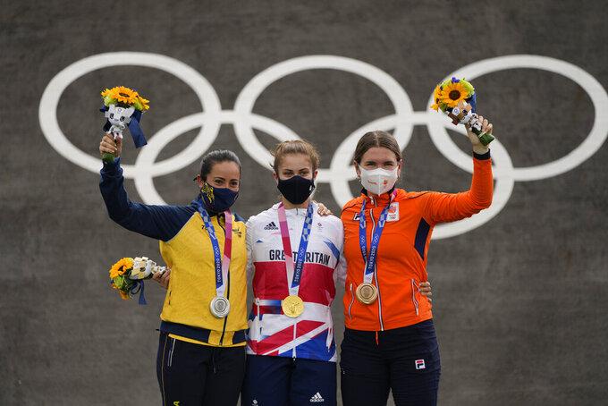 Kimmann, Shriever win BMX racing gold; 2 stretchered off