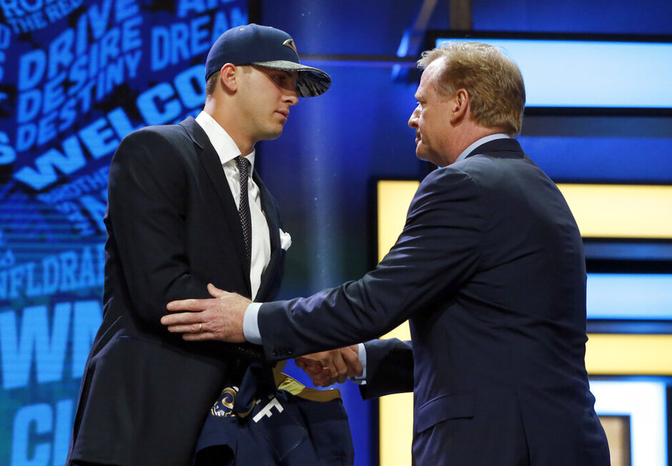 Jared Goff, Roger Goodell