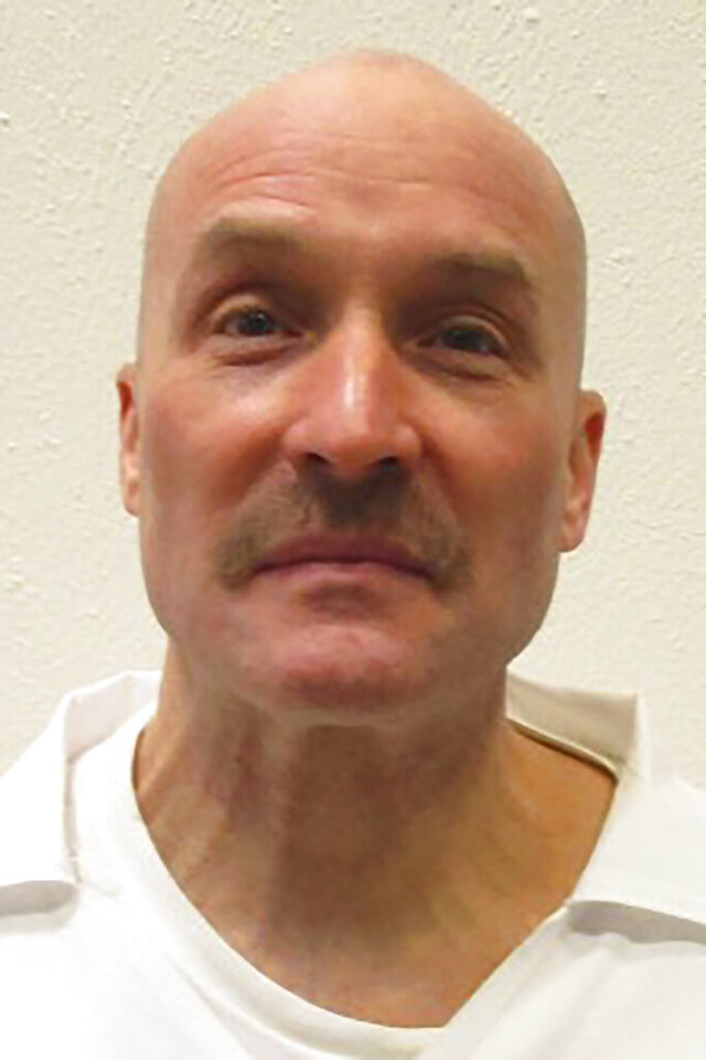 This undated photo provided by the Arkansas Department of Correction shows Karl Roberts. The Arkansas Supreme Court has ruled against Roberts, a death row inmate who argued that he shouldn't be put to death because he was diagnosed with schizophrenia. Justices on Thursday, Jan. 30, 2020 upheld a lower court's decision to reject the appeal of Karl Roberts, who was convicted and sentenced to death for the 1999 killing of his 12-year-old niece, Andi Brewer. (Arkansas Department of Correction via AP)