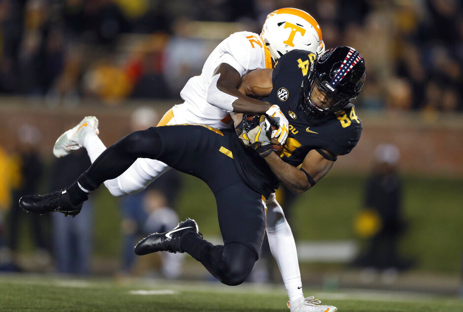 APTOPIX Tennessee Missouri Football