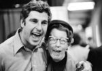 FILE - Indiana coach Bobby Knight hugs his mother, Hazel, after the Indiana team beat Michigan 86-86 to win the NCAA college basketball championship in Philadelphia, in this March 30, 1976, file photo.  (AP Photo/File)