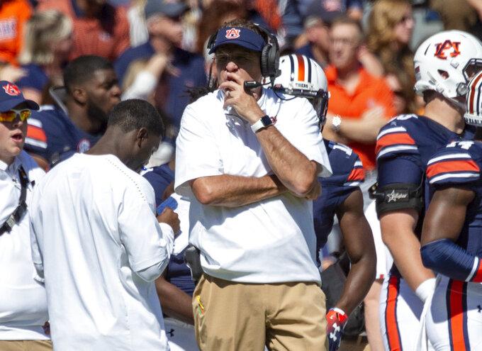 Auburn trying to halt skid from top 10 to being unranked
