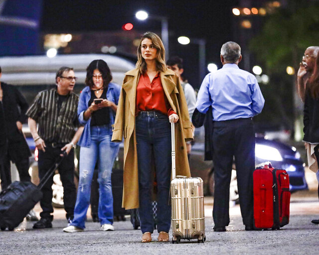 In this image released by ABC, Nathalie Kelley appears in a scene from
