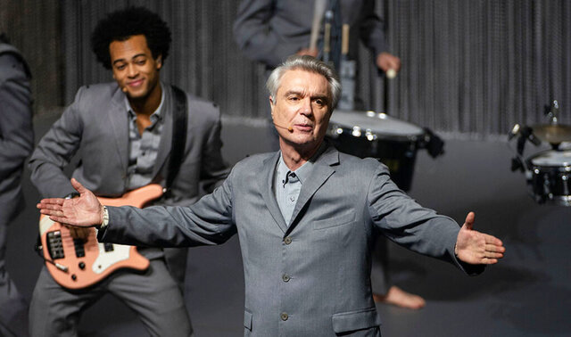 This image released by the Toronto Film Festival shows David Byrne in a scene from