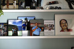 Memorabilia of Parkland school shooting victim Chris Hixon is displayed at his widow, Debbi Hixon's, home on the second anniversary of his death Friday, Feb. 14, 2020, in Hollywood, Fla. Hixon was one of 17 people killed in a school shooting on Valentine's Day two years ago at Marjory Stoneman Douglas High School. The home was recently renovated by the program