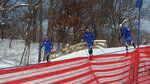 In this Feb. 14, 2019 photo, cross-country skiers practice at Theodore Wirth Regional Park in Golden Valley, Minn. Since 1970, Minnesota's winters have been warming at a rate of more than 1 degree a decade. The change is noticeable to many who enjoy outdoor winter activities, allowing fewer opportunities for cross-country ski races, snowmobiling, dog sledding, ice fishing and outdoor skating. (AP Photo/Jeff Baenen)