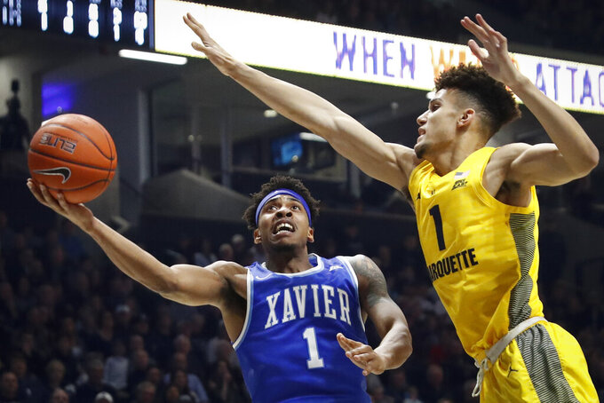 Marquette Golden Eagles at Xavier Musketeers 1/26/2019