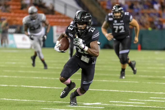 Schmidt accounts for 4 TDs, Air Force beats Hawaii 56-26