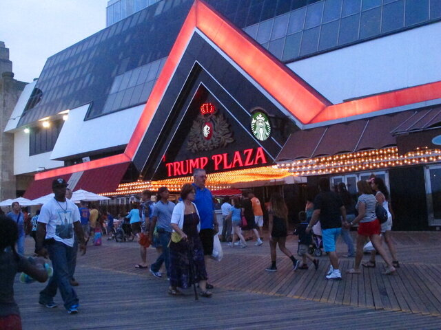 This July 24, 2014 photo shows the former Trump Plaza casino in Atlantic City, N.J. On Wednesday, Dec. 16, 2020, Atlantic City Mayor Marty Small announced the city will auction off the right to push the button to dynamite the former casino, which is now closed, to raise money for a local youth charity. (AP Photo/Wayne Parry) Sent from Mail for Windows 10