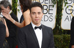 FILE - Apolo Ohno arrives at the 71st annual Golden Globe Awards on Jan. 12, 2014, in Beverly Hills, Calif. Olympians including Michael Phelps, Ohno and Jeremy Bloom are opening up about their mental health struggles in a new sobering documentary about suicide and depression among the world's greatest athletes. Many of the athletes are sharing their pain for the first time in HBO's