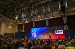 Democratic presidential candidate former Vice President Joe Biden speaks during the Teamsters Presidential Candidate Forum at the Veterans Memorial Coliseum, Saturday, Dec. 7, 2019, in Cedar Rapids, Iowa. (Andy Abeyta/The Gazette via AP)