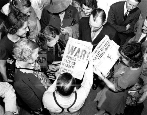 WWII U.S. NEWSPAPER HEADLINES
