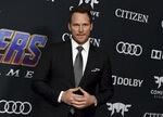 "FILE - Chris Pratt arrives at the premiere of ""Avengers: Endgame"" on April 22, 2019, in Los Angeles. Pratt turns 42 on June 21. (Photo by Jordan Strauss/Invision/AP, File)"