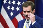 Pentagon spokesman John Kirby speaks during a media briefing at the Pentagon, Monday, Sept. 20, 2021, in Washington. (AP Photo/Alex Brandon)