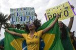 Supporters take part in a demonstration backing Brazil's President Jair Bolsonaro, marking Independence Day on Copacabana Beach in Rio de Janeiro, Brazil, Tuesday, Sept. 7, 2021. (AP Photo/Bruna Prado)