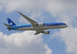 Boeing 787-9 Dreamliner performs his demonstration flight at Paris Air Show, in Le Bourget, east of Paris, France, Monday, June 17, 2019. The world's aviation elite are gathering at the Paris Air Show with safety concerns on many minds after two crashes of the popular Boeing 737 Max. (AP Photo/Michel Euler)
