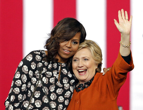 Michelle Obama, Hillary Clinton