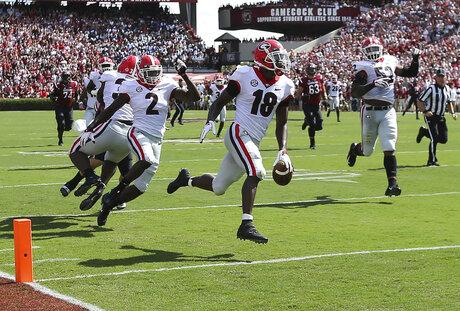 APTOPIX Georgia South Carolina Football