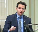 FILE - This Aug. 31, 2017, file photo shows Assemblyman Kevin Kiley, R-Rocklin at the Capitol in Sacramento, Calif. Kiley announced on Twitter on Tuesday, July 6, 2021, that he is running in the Sept. 14, recall election in an attempt to replace Gov. Gavin Newsom, a Democrat. (AP Photo/Rich Pedroncelli, File)