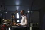 Drummer Jason Marsalis performs in the WWOZ at the New Orleans Jazz & Heritage Festival New Orleans, Thursday, April 25, 2019. (AP Photo/Doug Parker}