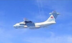 This handout photo from the Royal Malaysian Air Force taken on May 31, 2021 and released on June 1, 2021 shows a Chinese People's Liberation Army Air Force (PLAAF) Ilyushin Il-76 aircraft that Malaysian authorities said was in the airspace over Malaysia's maritime zone near the coast of Sarawak state on Borneo island. (Royal Malaysian Air Force via AP)