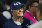 File-This Dec. 15, 2019, file photo shows then Dallas Cowboys defensive coordinator Rod Marinelli before an NFL football game against the Los Angeles Rams in Arlington, Texas.  Marinelli doesn't have much time to fix all the problems on the Las Vegas Raiders defense. He was promoted from defensive line coach to interim defensive coordinator after Paul Guenther was fired on Sunday, Dec. 13, 2020, and has just three days to make his mark before the Raiders host the Los Angeles Chargers on Thursday, Dec. 17, 2020. (AP Photo/Ron Jenkins, File)