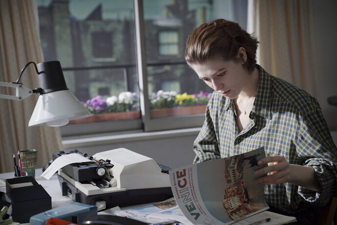 This image released by A24 shows Honor Swinton Byrne in a scene from