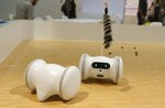 VARRAM has developed a robot to care for your pets while you are away with the VARRAM Pet Fitness Robot, as the company claims this smart device helps with pet anxiety and playtime, offering real-time rewards, like treats, and activities, using the Varram app, you can set a schedule for your pet via Bluetooth, shown at CES International Tuesday, Jan. 8, 2019, in Las Vegas. (AP Photo/Ross D. Franklin)