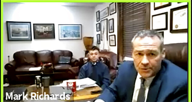 In this screen grab from live stream video, Kyle Rittenhouse, left, appears with his attorney, Mark Richards during a hearing at Kenosha County Court in Kenosha, Wis., on Thursday, Dec. 3, 2020. A court commissioner has ruled that there is sufficient evidence to warrant a trial for the Illinois teenager accused of killing two men during an August protest in Wisconsin. Thursday's ruling by Kenosha County Circuit Court Commissioner Loren Keating came after a contentious hearing during which Rittenhouse's attorney sought to show that the teen had acted in self-defense. (Nineteenth Judicial Circuit Court via AP)