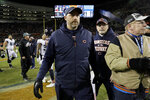 Chicago Bears head coach Matt Nagy leaves the field after an NFL wild-card playoff football game against the Philadelphia Eagles Sunday, Jan. 6, 2019, in Chicago. The Eagles won 16-15. (AP Photo/Nam Y. Huh)